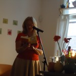 Jo Parfitt reading an excerpt from her newly published novel Sunshine Soup (Summertime Publishing)