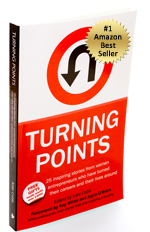 Turning Points book cover with Amazon #1 bestseller sticker www.adventuresinexpatland.com