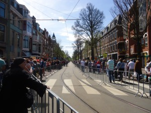 Tram tracks on Queen's Day Adventures in Expat Land