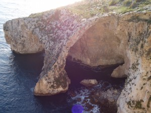 cove on Maltese coastline on www.adventuresinexpatland.com