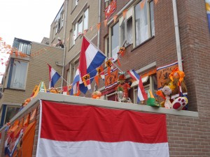 Dutch house decorated in support of Netherlands national team at Adventures in Expat Land