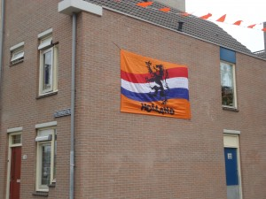 Orange Lion flag in Netherlands on www.adventuresinexpatland.com