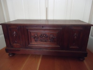 Dutch late 19th century carved chest on www.adventuresinexpatland.com
